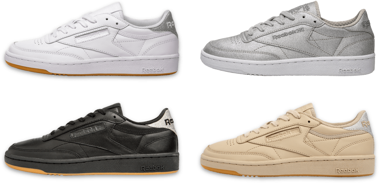 White, Diamond, Black and Oatmeal Reebok Classic Club C