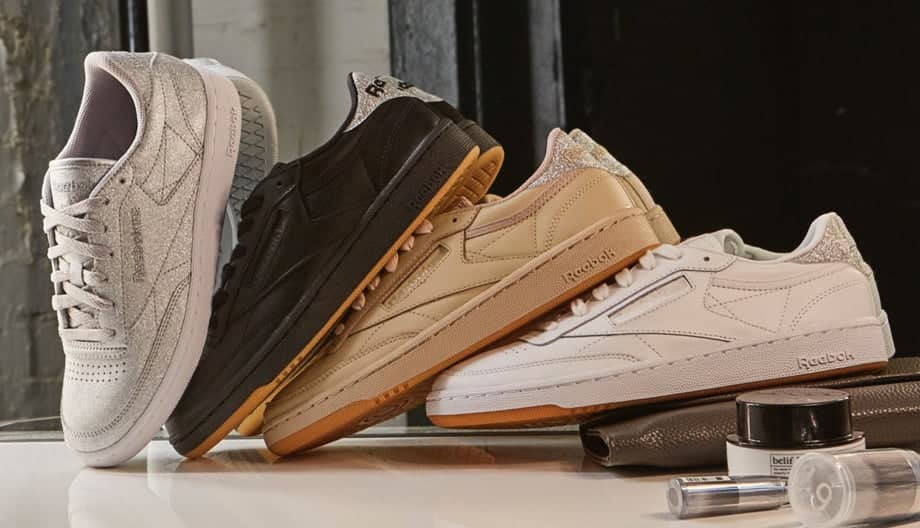 Stack of Reebok Classic Club C